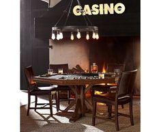 Home bars bar home and garden design ideas on pinterest for Pottery barn poker table