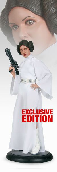 """Sideshow Collectibles Exclusive - Star Wars - Princess Leia Premium Format Figure ~ """"The figure is constructed of hand-cast polystone, each hand-painted to exacting standards, & meticulously finished w details such as eyelashes. Leia is dressed in the complete hooded white robe costume, accurately reproduced in 1:4 scale, including her detailed belt."""" ~ Limited Edition: 1000 ~ SRP: $274.00"""