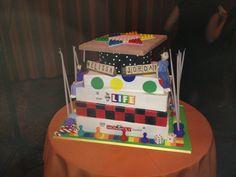 April 20, 2013 at Keneseth Israel in Elkins Park, PA.  A board game-themed cake.  Mazel tov Melissa & Jordan!