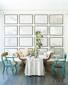 Maps, maps & more maps! This is a lovely, subtle custom framed map instillation.