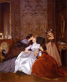 """The Hesitant Betrothed"" (1866) by Auguste Toulmouche (1829-1910)."