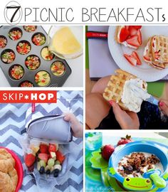 More than 50 fun picnic ideas for kids! Family picnics can be a lot of fun, check out these picnic food ideas and activities for kids and families. Breakfast Picnic, Breakfast For Kids, Breakfast Ideas, Toddler Meals, Kids Meals, Kids Picnic, Picnic Ideas, Summer Picnic, Lunch Ideas