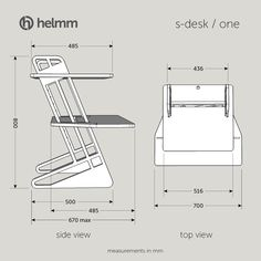 s-desk voro – Helmm Standing Desk Chair, Standing Desk Height, Best Ergonomic Chair, Stand Up Desk, Dj Stand, Cool Office Desk, Cnc Wood, Plywood, Low Chair