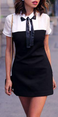Black & White Tuxedo Dress ❤︎ #street #fashion #love