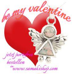 be my Valentine  jetzt portofrei bestellen im www.samakishop.com  #engelsrufer #opal #opalschmuck #opalengel #engel #valentinstag #samakishop #engelrufer