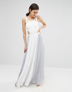 ae0c0e37a93 True Decadence Tall Cut Out Maxi Dress With Contrast Pleated Skirt at  asos.com