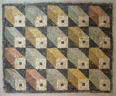 Roman Mosaic Flooring - modern use of optical illusions (compare to escher)