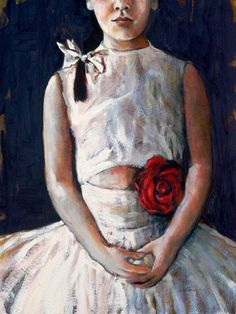 """Painting - Child's Portrait by Sophie Gralton """"Corsage"""" Oil on Wood at Tusk Gallery National Art School, Artist Biography, List Of Artists, Buy Art Online, Watercolor Artists, Australian Artists, Online Gallery, Art Auction, Mixed Media Art"""