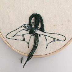 A Modelo Sheena Liam mostra outros talentos ao criar bordados de mulheres com diferentes cabelos - Follow the Colours