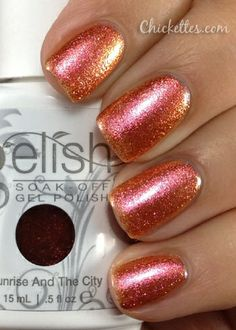 gelish colors | Gelish Sunrise and the City Swatch