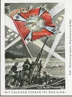 "Negative Nazi propaganda series, ""With our flag is victory"". Guess it didn't work too well."