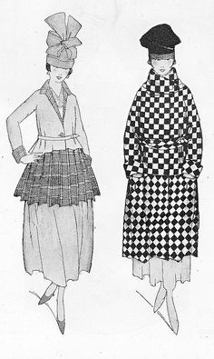 February 1917 Fashion    From the February 15, 1917 issue of Vogue magazine.
