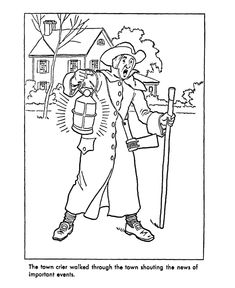 Early American Trades Coloring Page US states Pinterest