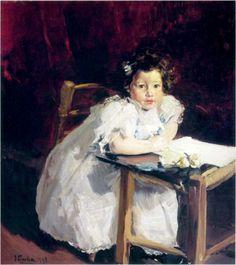 Elena at her desk - Joaquín Sorolla