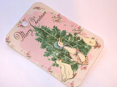 Vintage Inspired Beatrix Potter Christmas Gift Tags by SiriusFun, $5.50