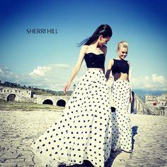 Sherri Hill polka-dots for #prom2014 #ipaprom