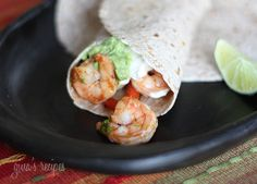 Shrimp Fajitas - these are some of my husband's favorite fajitas!
