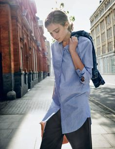 The Boyfriend Shirt WA629 Shirts & Blouses at Boden