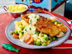 Our popular recipe for breaded salmon filet with mustard sauce and buttered vegetables and over Healthy Dessert Recipes, Healthy Salads, Healthy Chicken Recipes, Healthy Cooking, Vegetable Recipes, Cooking With Kids, Cooking Ideas, Vegetables, Steak