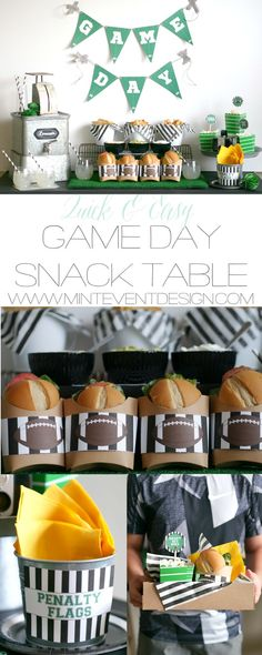 Game Day party ideas / Game Day food ideas / Game day snacks / Super bowl party ideas / Super bowl easy finger foods / Super bowl party inspiration / Styled by Carolina from MINT Event Design / www.minteventdesign.com