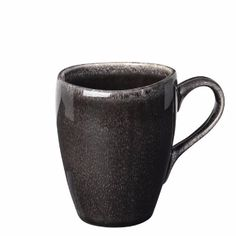 Broste Nordic Coal Handled Mug: Nordic coal handled mug. Every item is completely unique with a delicately textured stoneware glazed finish and no two pieces are the same.