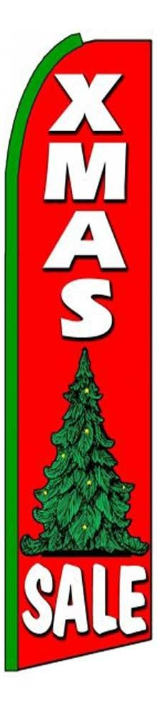 Xmas Sale 2-Sided Swooper Flag