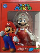 """Super Mario Brothers 5"""""""" Plastic Toy Action Figure - Fire Mario"""
