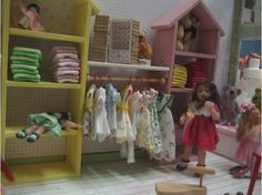 miniature girl's clothing store