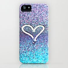 glitter heart- photograph of glitter  iPhone Case by Sylvia Cook Photography - $35.00