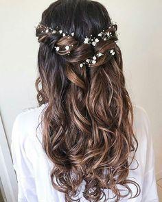 1,2,3,4,5,6,7,8 or 9? ❤️👸 -Follow us Tonya Potts.hd for more 👸 - Credi... - #Credi #Follow #Pottshd #Tonya Wedding Hair Down, Wedding Hairstyles For Long Hair, Wedding Hair And Makeup, Down Hairstyles, Easy Hairstyles, Wedding Braids, Hair For Bride, Hairstyle Ideas, Hair For Prom