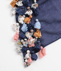 DIY inspiration -- fabric scrap tassels embellishment