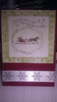 Two retired Stampin Up sets: Yuletide Christmas and Over the River