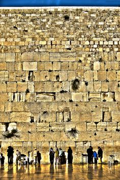 Wailing Wall Jerusalem, Israel  everybody says if you have been there before,you will feel everything show in your mind....