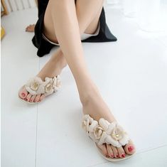 Find More Women's Sandals Information about 2015 New Summer Hot Women Sandals With Beautiful Camellia Flower Sweet  Flip Flops XWZ455,High Quality sandal footwear,China sandals flipflop Suppliers, Cheap sandals beach wedding dresses from Encounter in 2015 on Aliexpress.com