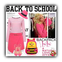 """Back to School: New BackPack with LucLuc"" by terrelyn-thomas-no-tags ❤ liked on Polyvore"