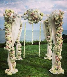Wedding ceremony idea; Featured Florals: Stoneblossom Floral & Event Design