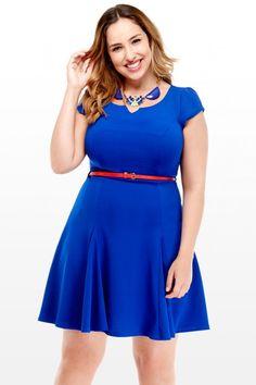 Joyce Belted Flare Dress