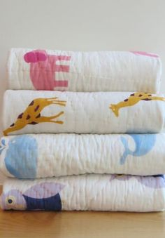 Naaya by Moonlight : Hand block printed quilts for the nursery