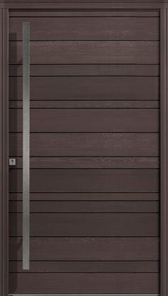 Extérieur brun 1200 Flush Door Design, Home Door Design, Bedroom Door Design, Door Design Interior, Front Door Design, House Outer Design, House Main Gates Design, Wooden Main Door Design, Modern Wooden Doors