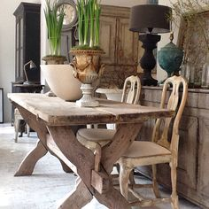 Decorative antique furniture with a particular fondness for Swedish Gustavian furniture and home accessories. Decor, Painted Furniture, Rustic Dining Table, Swedish Gustavian Furniture, Cotswolds Cottage, Furniture, Interior, Dining Table, Gustavian Furniture