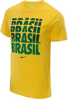 3b8f2a684 NIKE® Brasil Core Type short-sleeve t-shirt offers a solid show of