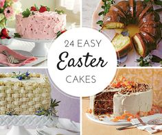Let these Easter cakes be the star of your holiday table.