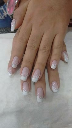 French Nails - French Nail Tip Ideas, French Nail Polish, French Tip Nail Designs French Manicure Nails, French Tip Nails, My Nails, Manicure Ideas, Bridal Nails French, White French Nails, French Nail Art, Gel Manicures, French Wedding