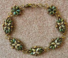 """LORETTA BRACELET DECO VARIATION   11/0 seed beads Miyuki """"Dark Bronze"""" (11-457D)  8/0 seed beads Miyuki """"Dark Bronze"""" (8-457D)  8/0 seed ..."""