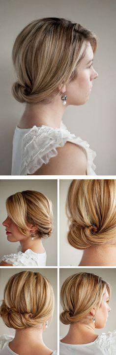 nape twist & pin hairstyle