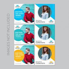 Modern sales banner for social media Vector Social Media Ad, Social Media Template, Social Media Design, Web Design, Coreldraw, Free Poster, Instagram Design, Instagram Posts, Instagram Grid