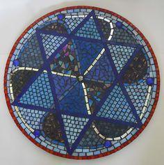 Handmade glass mosaic wall art by Joanna Y Designs