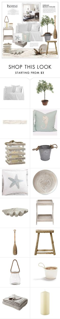 """""""Beach Home"""" by rever-de-paris ❤ liked on Polyvore featuring interior, interiors, interior design, home, home decor, interior decorating, Ballard Designs, Jamie Dietrich Designs, Threshold and Harbor House"""