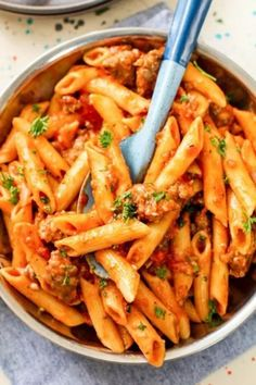 Best Food Recipes Easy, Hearty Rigatoni with Italian Sausage - Essen & Trinken - Gesund und lecker? eat and drink - healthy and tasty! Easy Pasta Recipes, Easy Chicken Recipes, Easy Dinner Recipes, Easy Meals, Entree Recipes, Sausage Recipes, Bread Recipes, Dessert Recipes, Cooking Recipes