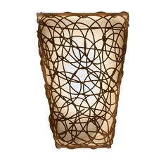 This It's Exciting Lighting Sconce is the perfect solution for those areas that do not have an electrical outlet. This unique fluted design with interlocking wicker twine instantly adds warm ambiance and a practical lighting solution to any setting. This wall light quickly and easily enhances the atmosphere and character of your home, office or apartment, allowing you to redecorate or brighten any room. Battery-operated, lightweight and mobile, it is the perfect lighting solution to fit any budg Outdoor Wall Sconce, Wall Sconce Lighting, Wall Sconces, Stairway Lighting, Emergency Lighting, Brown Walls, White Lead, Fabric Shades, Battery Operated